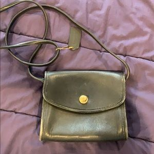 Coach Black Leather Bag - Vintage